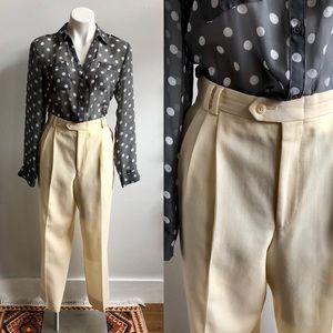 4/$20- Vintage Winter White Pleated Pants